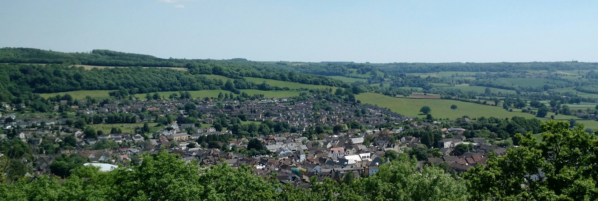 Wotton Under Edge from Wotton Hill, Cotswolds