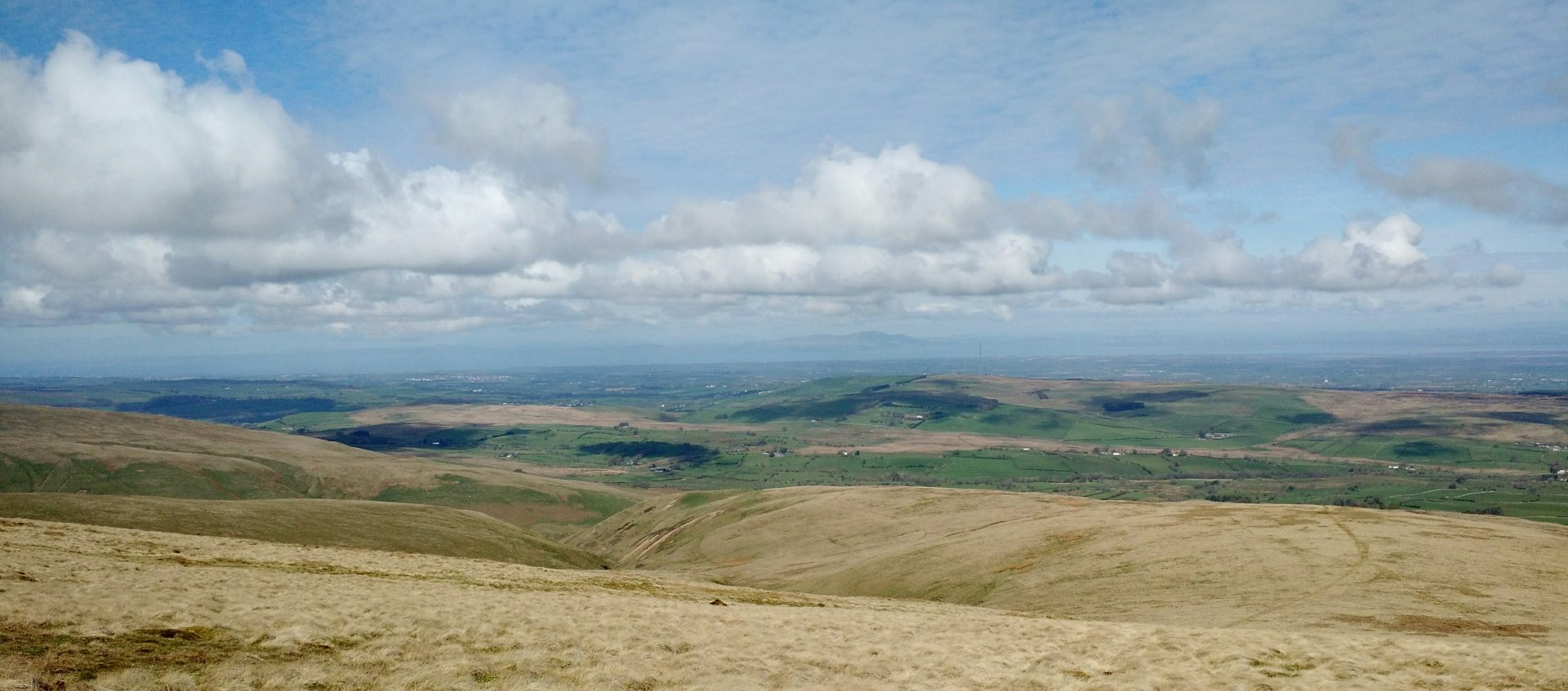 Solway Firth from Ascent of High Pike, Caldbeck