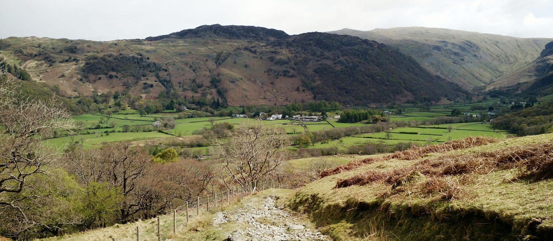 Rosthwaite from Tongue Gill Track