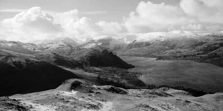 Helvellyn and Ullswater from Hallin Fell, Lake District