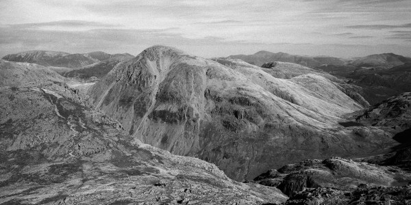 Great Gable from Scafell Pike, Lake District