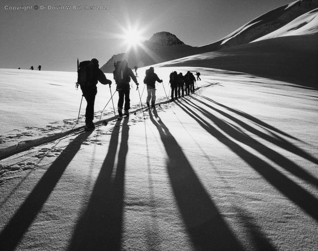 Wengen, Ski Mountaineering Galmigletscher, Bernese Oberland, Switzerland