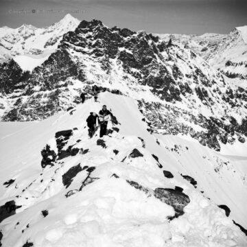 Saas Fee, Strahlhorn Summit Ridge, Switzerland