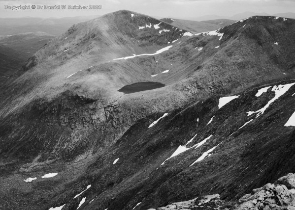 Cairn Toul and Angel's Peak from Braeriach, Cairngorms, Aviemore, Scotland