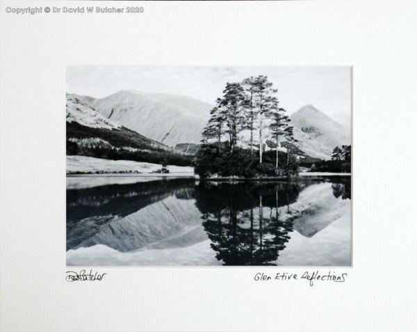 Scotland Glen Etive Reflections in Lochan Urr