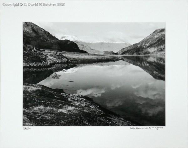 Scotland Knoydart Reflections of Ladhar Bheinn in Loch Hourn