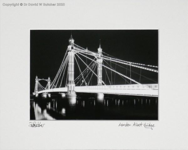 London Albert Bridge at Night by Dave Butcher