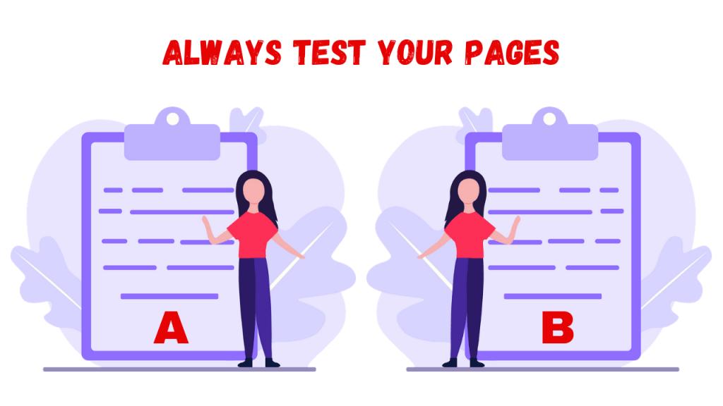 Landing Page Conversion Rates - AB Split Testing