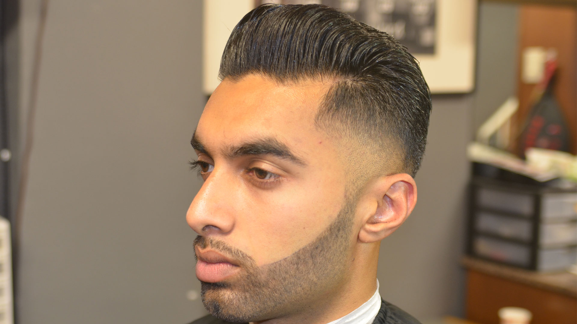 Pleasing Faux Hawk Mohawk Texturized Faded And Tapered With Beard Short Hairstyles Gunalazisus