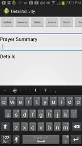 Prayer Keeper Detail Page Screenshot