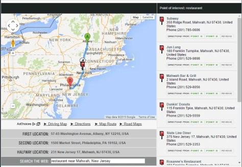 Meetways Results Screenshot