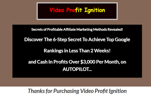 video profit ignition members area