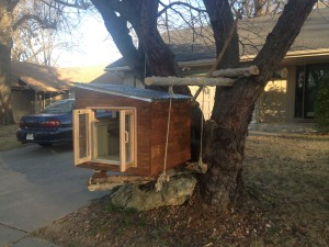 """Tree Little Library"" get it?"