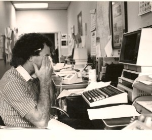 Me working as a reporter in Warren, Ohio, in the late 1980s.