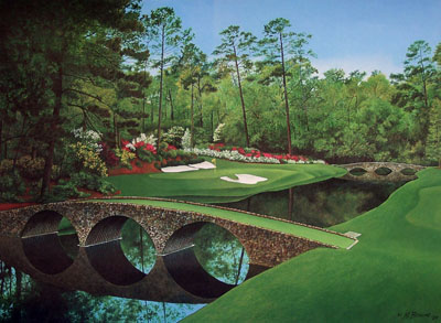 Overlooking the August, Georgia location of the Masters