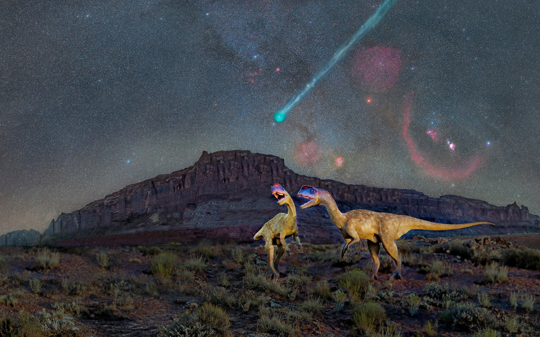 The Extinction of the Dinosaurs via Comet. Dinosaurs at Night #10