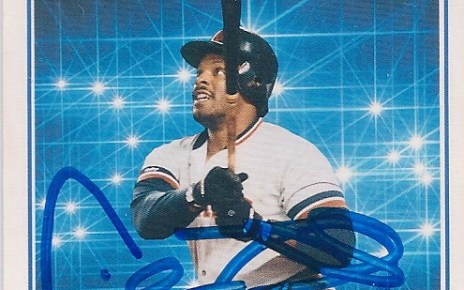 Signed 1991 Score Highlights Cecil Fielder signed card.