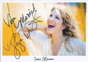 Signed 4x6 of Mezzo-Soprano Joyce DiDonato received TTM 11/16/2016
