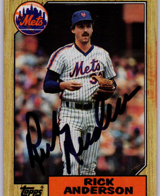1987 Topps Card 594 Signed by Rick Anderson