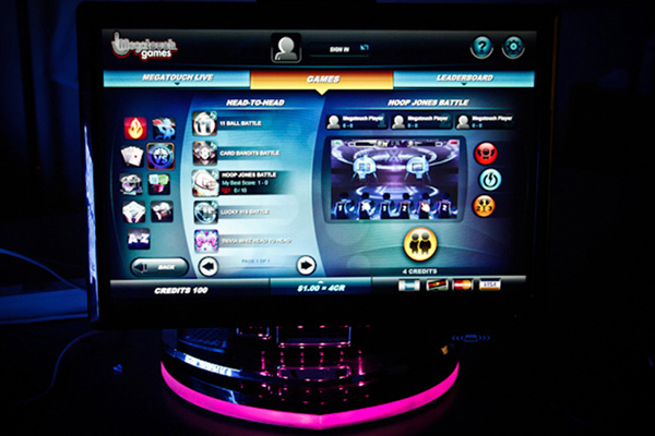 touch screen touchscreen video games Megatouch JVL