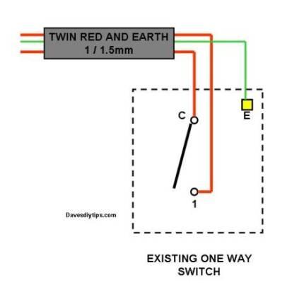 1 Way Light Switch Wiring Diagram: 1 Gang 2 Way Switch Wiring Diagram Uk Nodasystech,Lighting
