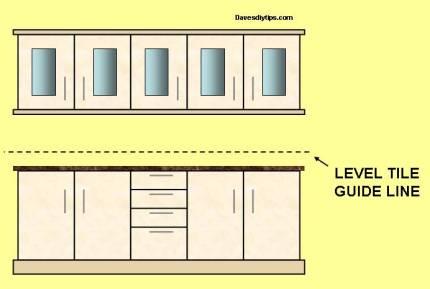 Level tile guide line