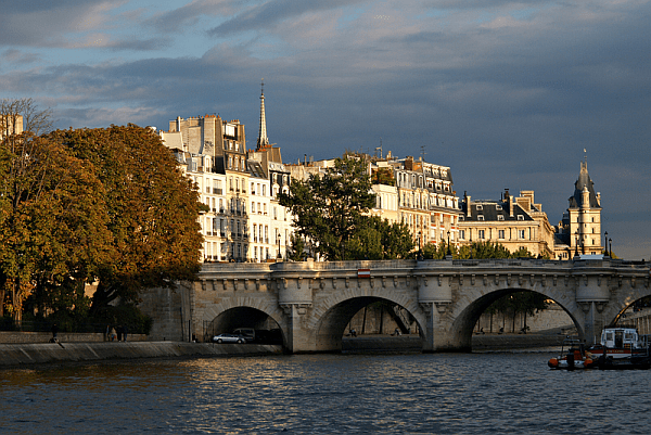 From the Seine in 2007.