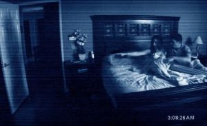 "A scene from ""Paranormal Activity"""