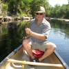 The author at the helm of his rented canoe