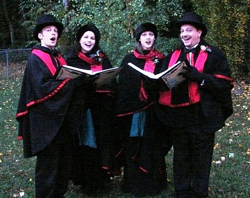 carolers at christmas