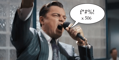 wolf of wall street f-word