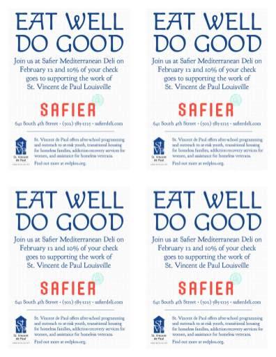 SVDP Safier Foodriser Flyer-4 up