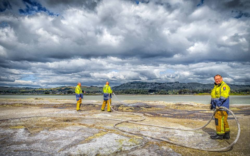 Extinguishing Another Rotorua Sulphur Fire