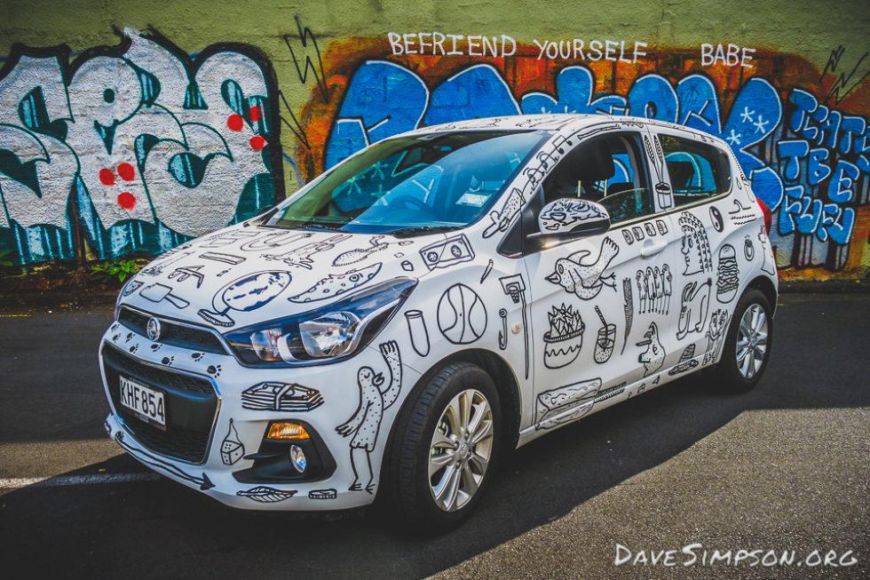 Holden NZ Graffiti Car