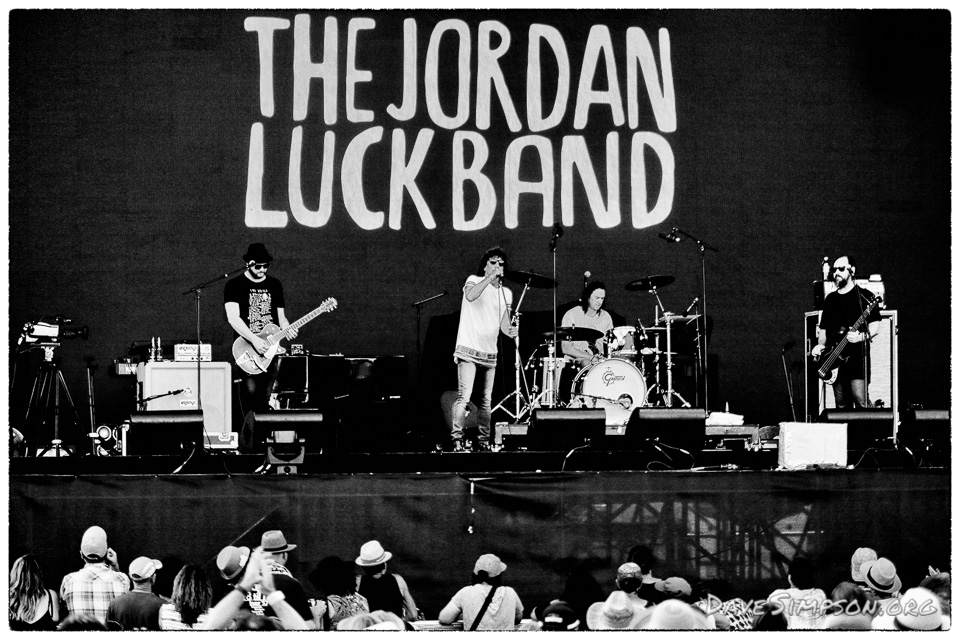 AUCKLAND, NEW ZEALAND - JANUARY 02: Singer Jordan Luck of The Jordan Luck Band performs on stage supporting Bryan Adams at Matakana Country Park on January 2, 2018 in Auckland, New Zealand. (Photo by Dave Simpson/WireImage)