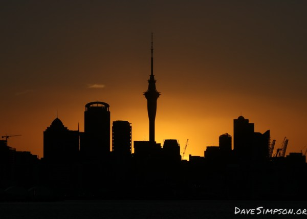 Auckland Sunset - Dave Simpson Photography