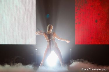 AUCKLAND, NEW ZEALAND - APRIL 19: Halsey performs on stage at Spark Arena on April 19, 2018 in Auckland, New Zealand. (Photo by Dave Simpson/WireImage)
