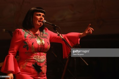 AUCKLAND, NEW ZEALAND - AUGUST 04: Tami Neilson performs as part of the Sassafrass! NZ Tour at Auckland Town Hall on August 4, 2018 in Auckland, New Zealand. (Photo by Dave Simpson/WireImage)