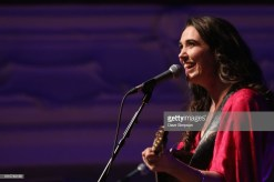 AUCKLAND, NEW ZEALAND - AUGUST 04: Milly Tabak of The Miltones performs on stage supporting Tami Neilson at Auckland Town Hall on August 4, 2018 in Auckland, New Zealand. (Photo by Dave Simpson/WireImage)