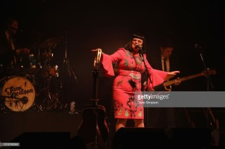 AUCKLAND, NEW ZEALAND - AUGUST 04: Joe McCallum, Tami Neilson and Mike Hall perform as part of the Sassafrass! NZ Tour at Auckland Town Hall on August 4, 2018 in Auckland, New Zealand. (Photo by Dave Simpson/WireImage)