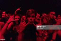 AUCKLAND, NEW ZEALAND - SEPTEMBER 28: Fans watch Skrillex perform during Listen In at Spark Arena on September 28, 2018 in Auckland, New Zealand. (Photo by Dave Simpson/WireImage)