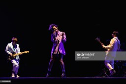 AUCKLAND, NEW ZEALAND - OCTOBER 16: PJ Shepherd, Possum Plows and Harry Carter of Openside perform on stage opening for Panic! At The Disco at Spark Arena on October 16, 2018 in Auckland, New Zealand. (Photo by Dave Simpson/WireImage)