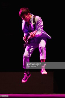 AUCKLAND, NEW ZEALAND - OCTOBER 16: PJ Shepherd of Openside performs on stage opening for Panic! At The Disco at Spark Arena on October 16, 2018 in Auckland, New Zealand. (Photo by Dave Simpson/WireImage)
