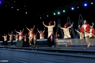 AUCKLAND, NEW ZEALAND - OCTOBER 21: Shaan Punjabdi Punjabi Kids entertains the crowds during the 17th Auckland Diwali Festival on October 21, 2018 in Auckland, New Zealand. Auckland Diwali Festival is one of Auckland's biggest and most colourful cultural festival, celebrating traditional and contemporary Indian culture. (Photo by Dave Simpson/WireImage)