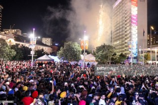 AUCKLAND, NEW ZEALAND - OCTOBER 21: Fireworks illuminate the crowd at the close of the 17th Auckland Diwali Festival on October 21, 2018 in Auckland, New Zealand. Auckland Diwali Festival is one of Auckland's biggest and most colourful cultural festival, celebrating traditional and contemporary Indian culture. (Photo by Dave Simpson/WireImage)
