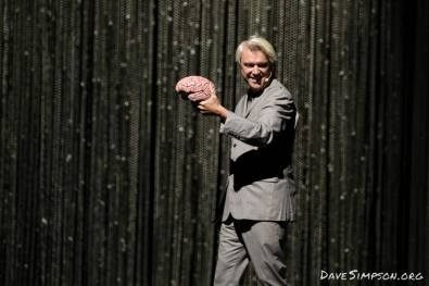 AUCKLAND, NEW ZEALAND - NOVEMBER 17: David Byrne performs on stage as part of his American Utopia World Tour at Spark Arena on November 17, 2018 in Auckland, New Zealand. (Photo by Dave Simpson/WireImage)
