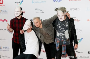 AUCKLAND, NEW ZEALAND - NOVEMBER 15: Villainy arrive for the 2018 Vodafone New Zealand Music Awards at Spark Arena on November 15, 2018 in Auckland, New Zealand. (Photo by Dave Simpson/WireImage)