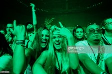 AUCKLAND, NEW ZEALAND - JANUARY 09: Fans watch San Holo perform on stage during FOMO By Night Festival at Spark Arena on January 9, 2019 in Auckland, New Zealand. (Photo by Dave Simpson/Getty Images)