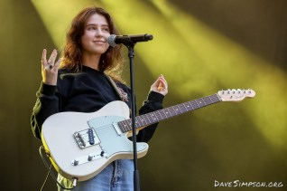 AUCKLAND, NEW ZEALAND - JANUARY 28: Claire Cottrill of Clairo performs on stage at St Jerome's Laneway Festival on January 28, 2019 in Auckland, New Zealand. (Photo by Dave Simpson/WireImage)