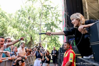 AUCKLAND, NEW ZEALAND - JANUARY 28: Annabel Liddell of Miss June performs on stage at St Jerome's Laneway Festival on January 28, 2019 in Auckland, New Zealand. (Photo by Dave Simpson/WireImage)